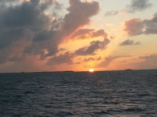 Christmas Sunset over Andros Island. What you can't see the island, ...