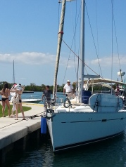 A Beneteau in No Name Harbor