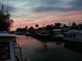 Sunrise on the Miami River
