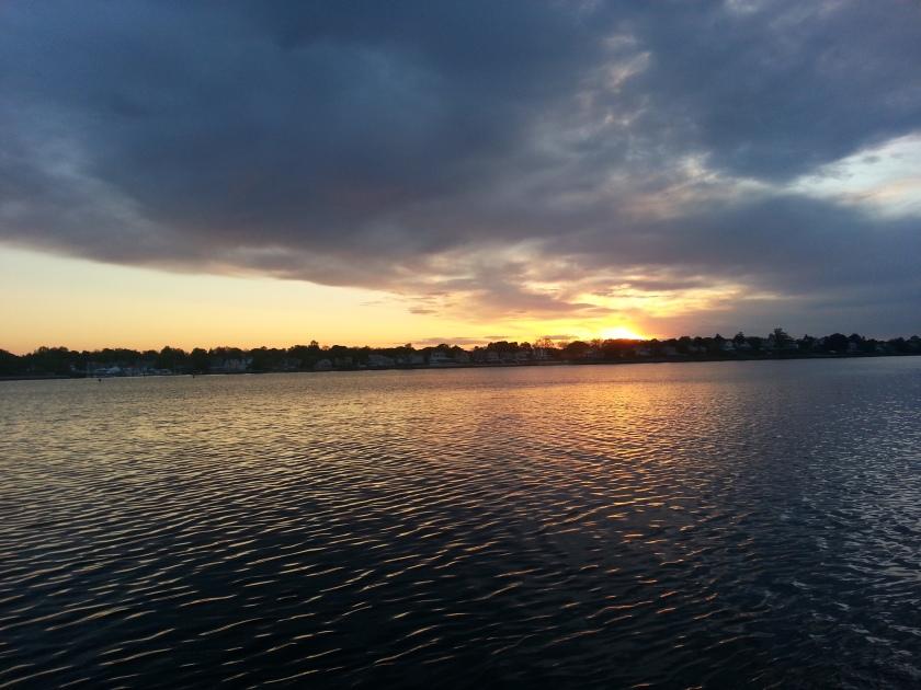 Sunset over the Narragansett