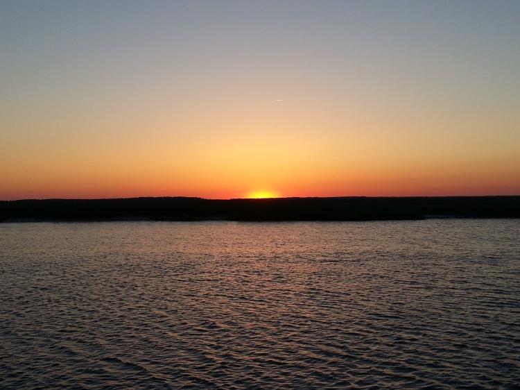 Sunset in Big Bay Creek