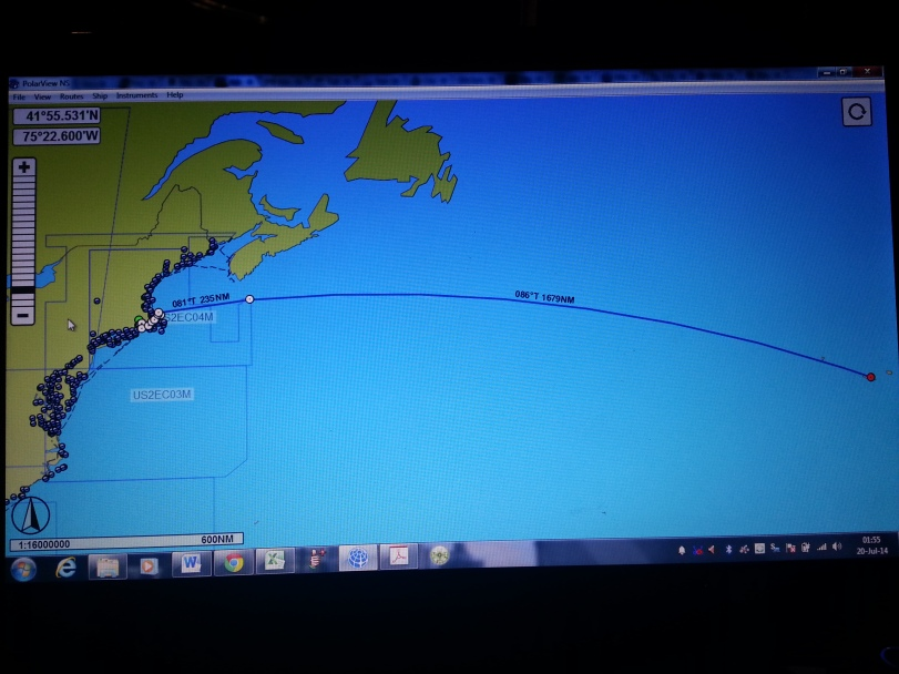 Our planned route