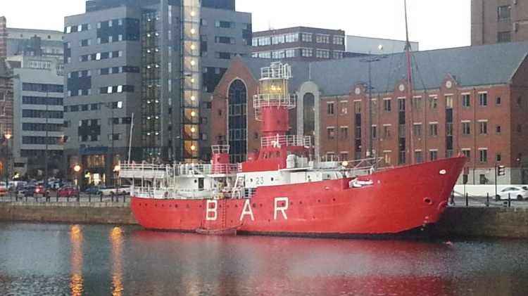 Lightship at Liverpool Dock
