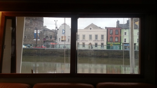 Looking out the Salon Window onto the Quay of Waterford, Ireland