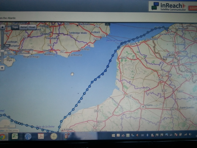 A Picture of The InReach Route. Each circle is half an hour
