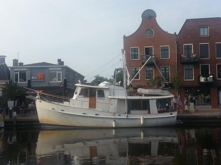 Dauntless in Lemmer, Friesland on the Ijsselmeer