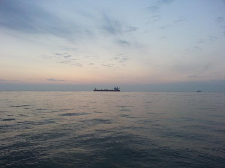 Sunrise on the Elbe