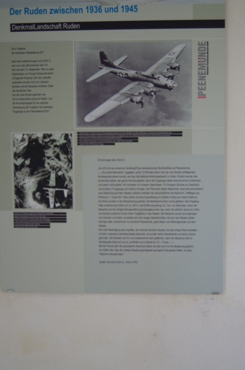 One of the Displays of a B-17 Over Germany