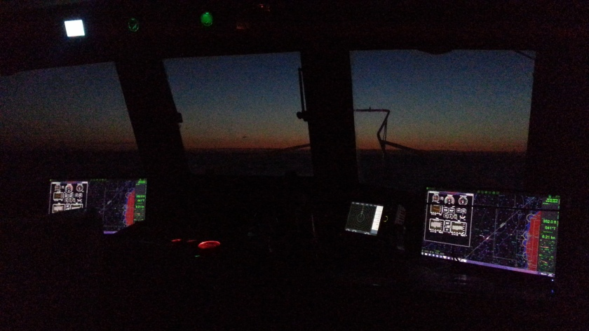 A shot from the pilot house during the 32 hour passage from Liepaja to Riga