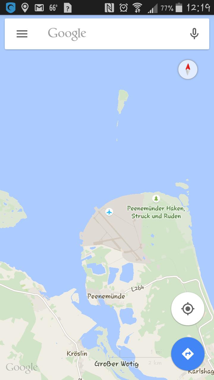 Ruden the little Island North of Peenemunde