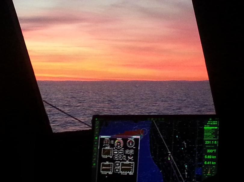 The Navigation Program, Coastal Explorer with the Maretron display on the same monitor
