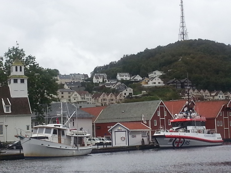Dauntless and the SAR boat in Egersund, Norway