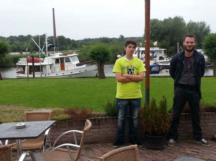 Ivan and Bas along a Dutch Canal