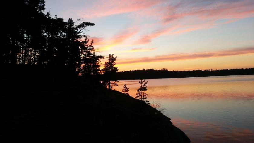 Sunset over Southern Sweden