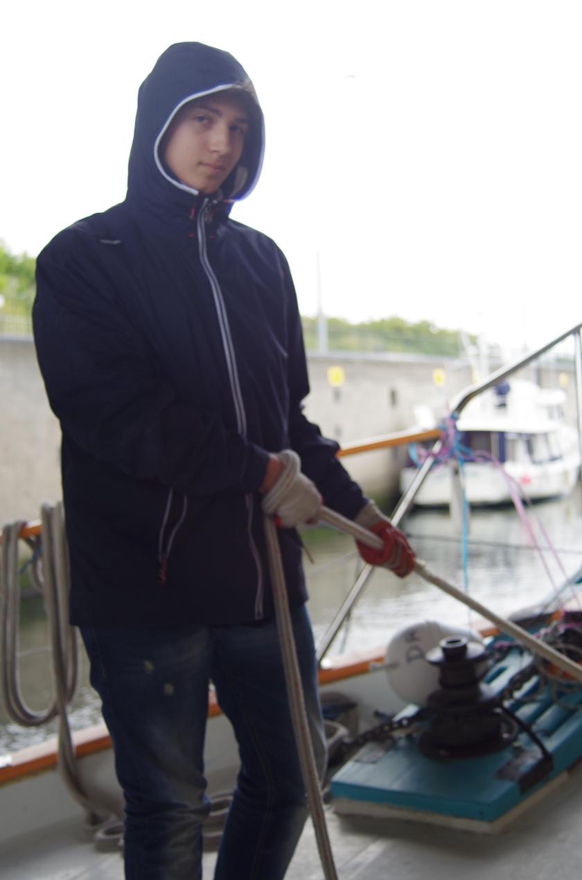 Ivan securing lines