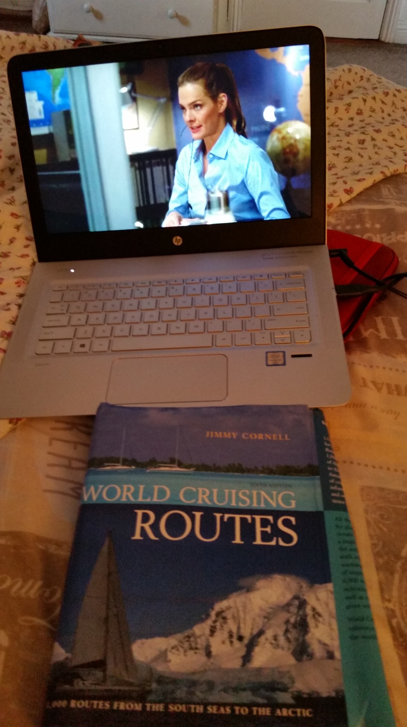 Passing the time watching The Unit, by David Mamet and reviewing World Cruising Routes by Jimmy Cornell
