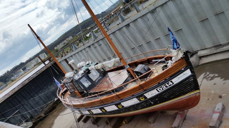 In the dry dock at New Ross Boat Yard