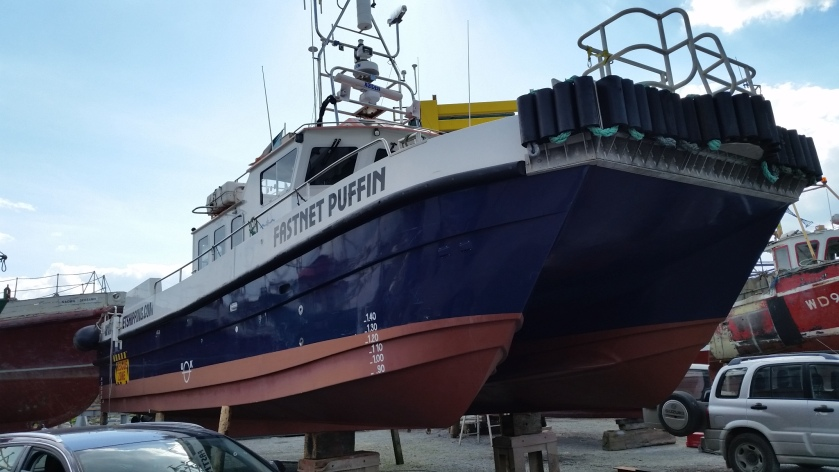One of the Fastnet boats in the yard. They are based in Waterford.