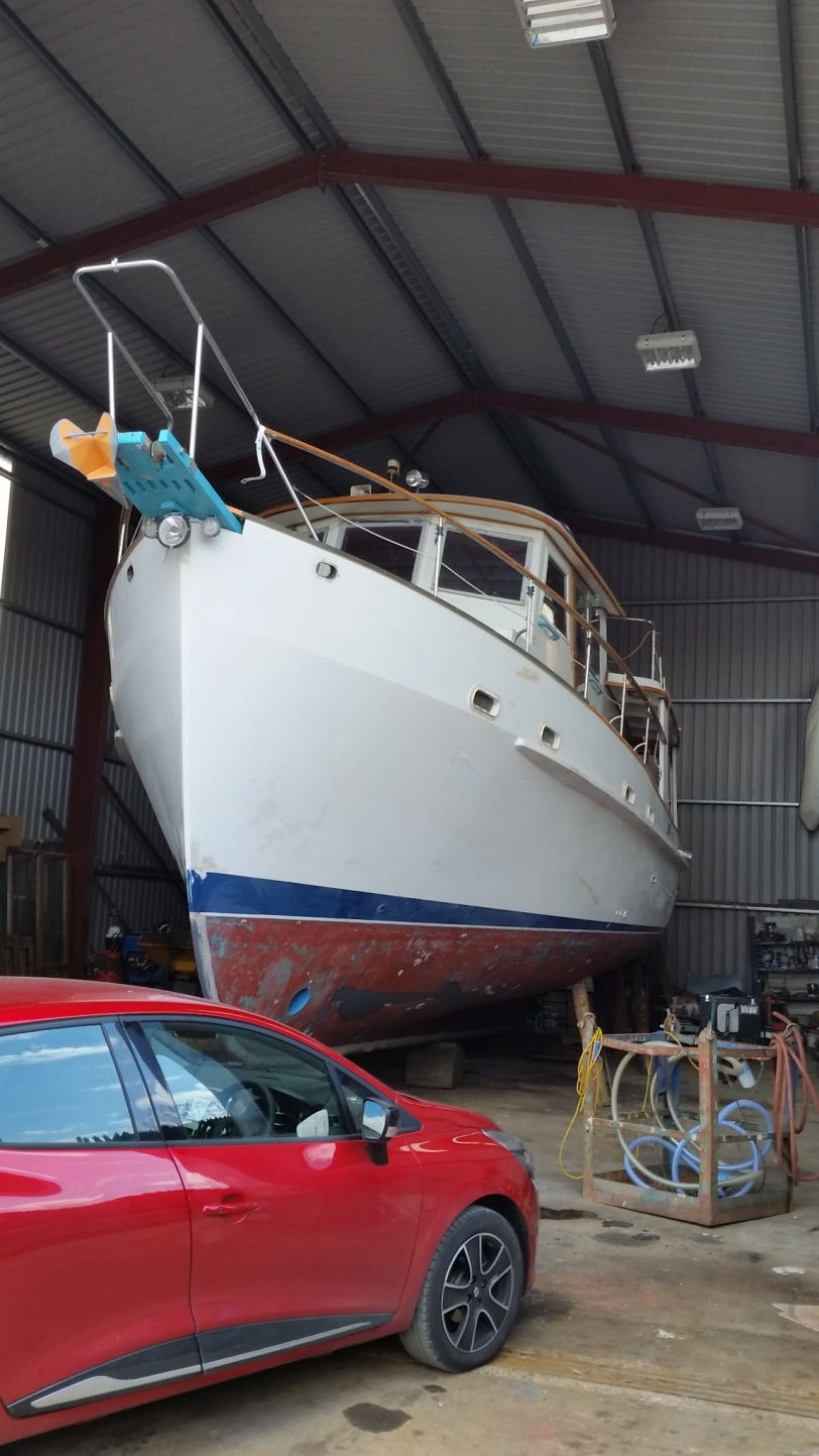 Dauntless is Put in the Shed