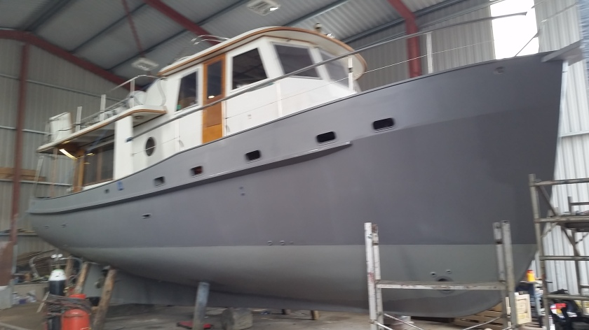 Dauntless after her second coat of primer