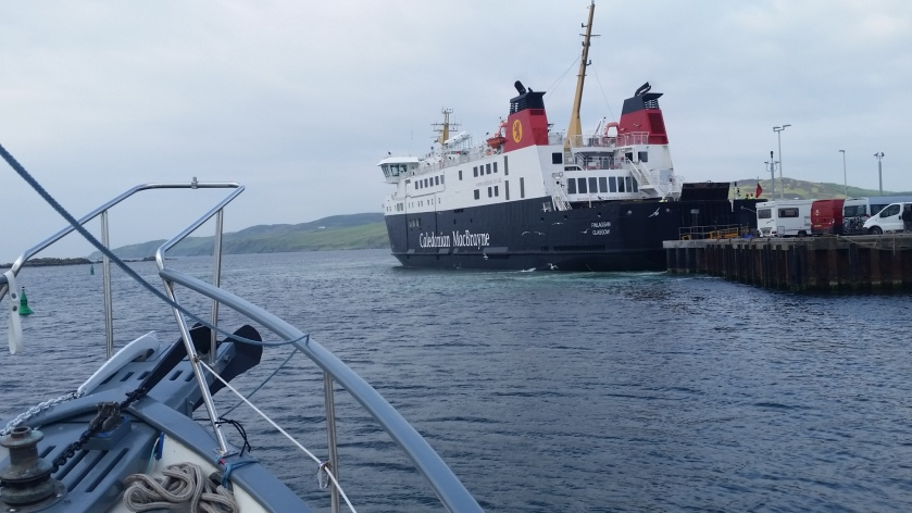 The Caldonian MacBrayne Ferry.  This was the first ferry we took in Scotland 8 years ago. Life Happens.