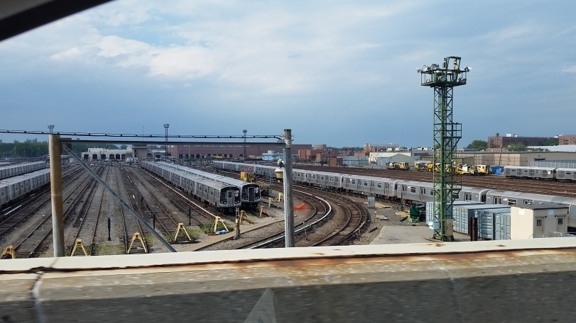 The Coney Island Subway Yard just off the Belt Parkway