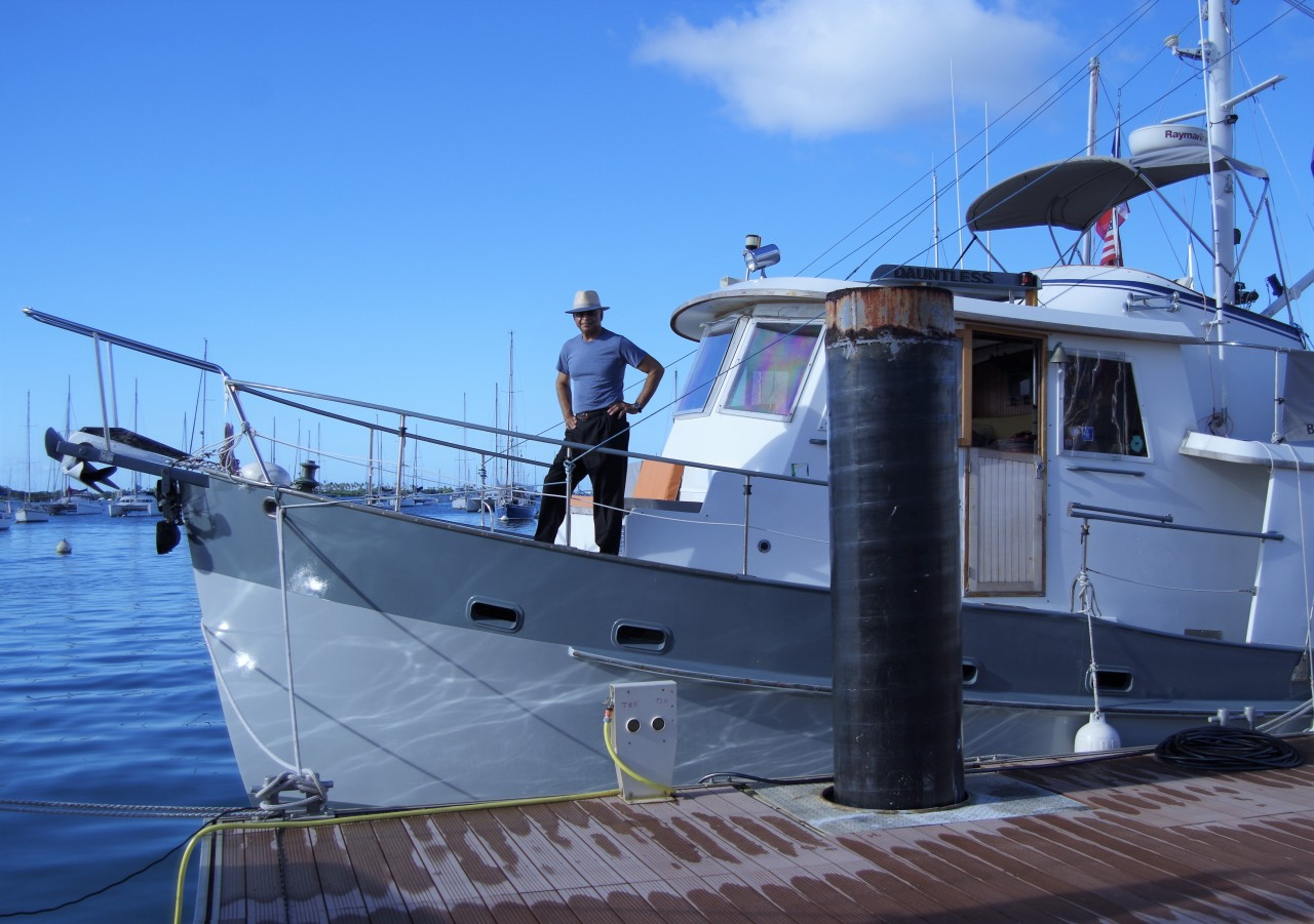 RIchard on Dauntless after Crossing the Atlantic OCean