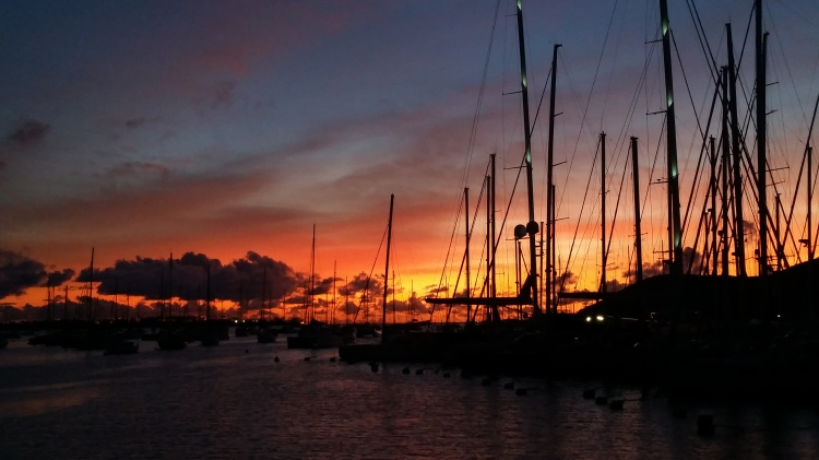 Sunset at Le Marin
