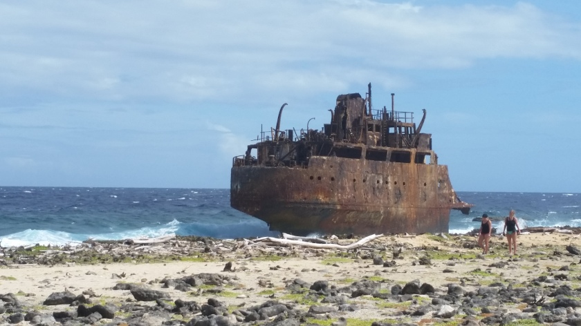 Don't Let this happen to you. The wreck on the east side of Kleine Curacao